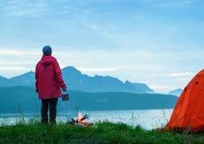 Hausse en Norvège photographie stock