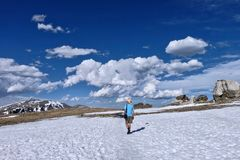 Hausse en Rocky Mountain National Park dans le Colorado photos libres de droits