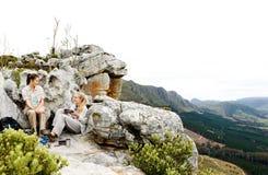 Hausse panoramique campante Photo stock
