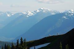 Hausse sur des montagnes Image libre de droits