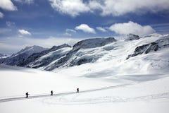 Hausse sur le glacier images libres de droits