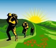 Hausse vers le haut de la montagne Photos libres de droits