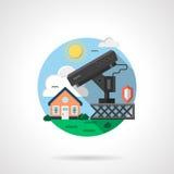Haussicherheitssystem-Farbausführliche Ikone Lizenzfreie Stockfotografie