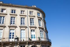 Haussmann architecture building in Bordeaux city. A Haussmann architecture building in Bordeaux city stock photo