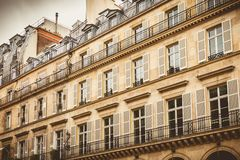 Haussmann building in the center of Paris. France royalty free stock photography