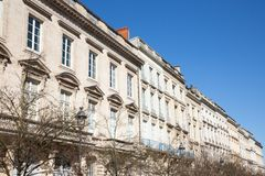 Haussmann building in Paris city France. A Haussmann building in Paris city France royalty free stock photography