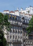 Haussmann building in Paris royalty free stock photography