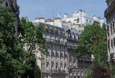 Haussmann building in Paris stock image