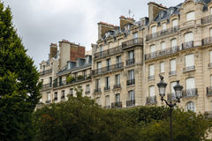 Haussmann buildings and their facades on Ile de la Cité, Paris, Stock Photos