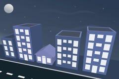 Hausstadtnacht Stockbilder