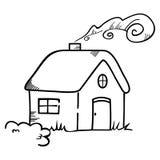 Haussymbol auf schwarzer Skizze Lizenzfreie Stockfotografie