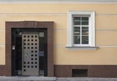 Haustür der Bank lizenzfreies stockfoto