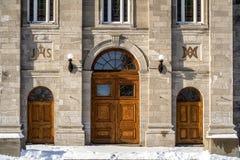 Haustür katholischer Kirche Suite-Rosen-Des aus Lima lizenzfreies stockfoto