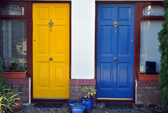 Haustüren Stockfotografie