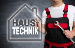 Haustechnik в немецкой технологии дома с сенсорным экраном дома Стоковое Фото