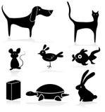 Haustier-Speicher-Tier-Ikonen-Satz lizenzfreie abbildung