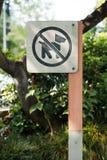 Haustieren werden nicht Zeichen erlaubt stockbilder