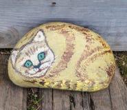 Haustierkatzenfelsen stockbild