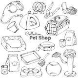 Haustierpflegekontur Stockbilder