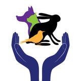 Haustierschutz-Zeichenvektor Stockbilder