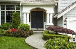 Haustür zum Haus Stockfotos