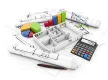 Hausumschulungskosten lizenzfreie abbildung