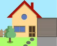 Hausvektorillustration Stockfotografie