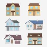 Hausvektorillustration Stockfoto