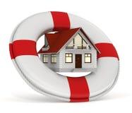 Hausversicherung - Lifebuoy Lizenzfreie Stockfotos