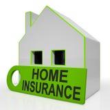 Hausversicherungs-Haus zeigt Prämien und die Forderung lizenzfreie abbildung
