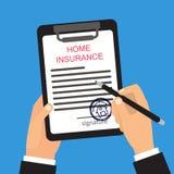 Hausversicherungsvektorillustration lizenzfreie abbildung