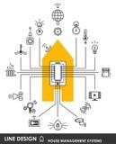 Hausverwaltungssystemsymbol stock abbildung
