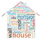 Hauswortwolke Lizenzfreie Stockbilder
