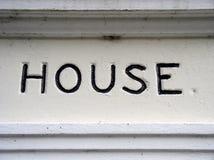 Hauszeichen stockfotografie