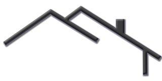 Hauszeichenzeichen Lizenzfreie Stockfotos