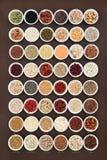 Haut échantillonneur de nourriture biologique de fibre Image libre de droits