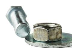 Haut étroit d'écrou, de joint et de boulon Photographie stock libre de droits