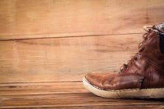 Haut étroit d'espadrilles de Brown Photo stock