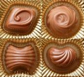 Haut étroit de bonbons à chocolat Image libre de droits