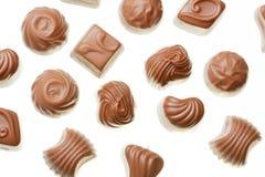 Haut étroit de bonbons à chocolat Image stock