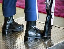 Haut étroit de bottes de soldat Photos libres de droits