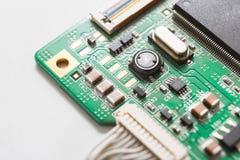 Haut étroit de composants de carte mère d'ordinateur Photos libres de droits