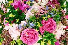 Haut étroit de fleurs de bouquet Photos stock