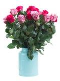 Haut étroit de fleurs roses Photos stock