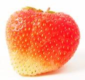 Haut étroit de fraises mûres rouges images stock