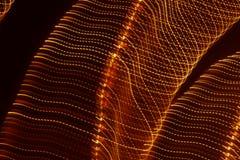 Haut étroit de longues lumières d'exposition Images stock