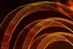 Haut étroit de longues lumières d'exposition Image libre de droits