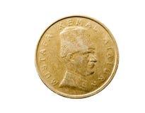 Haut étroit de pièce de monnaie Image stock