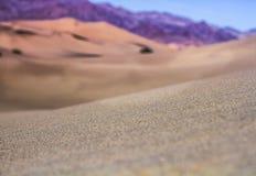 Haut étroit de sables de désert Photographie stock