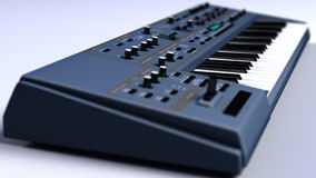 Haut étroit de synthétiseur/clavier photo libre de droits